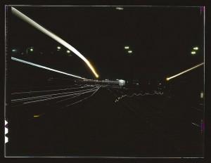 Santa Fe Railroad Yard by Photographer Jack Delano