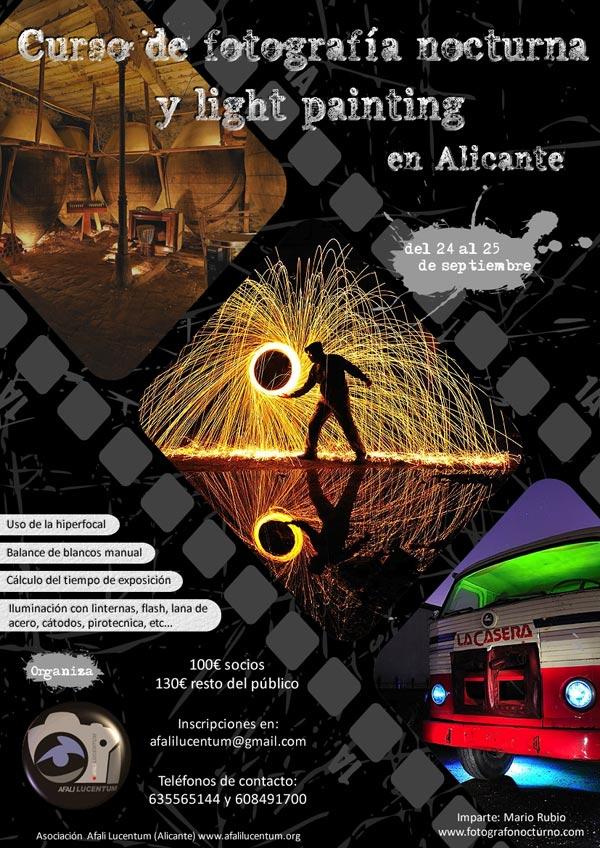 Próximo curso de fotografía nocturna en Alicante. 24-25 de septiembre 1