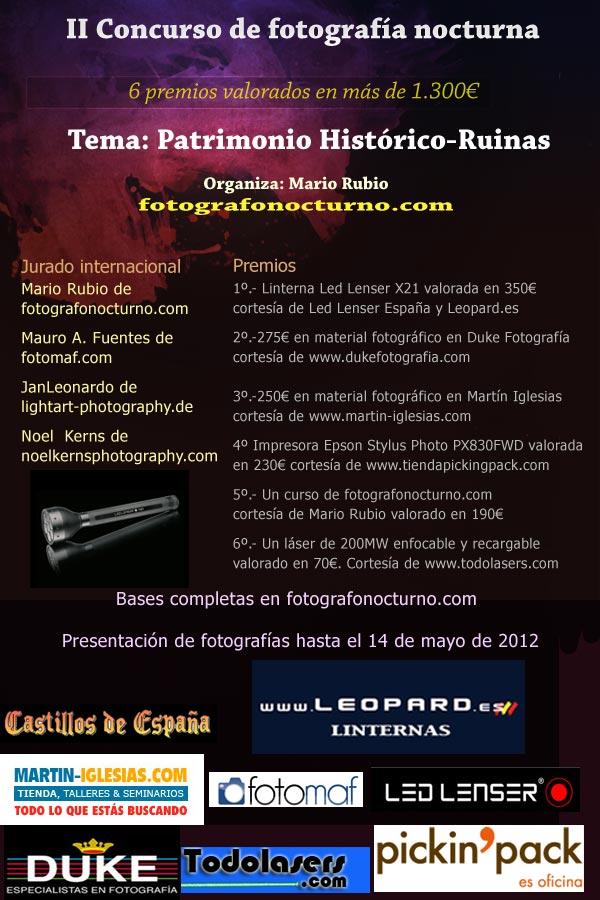II Concurso de Fotografía Nocturna. Más de 1.300€ en premios 1