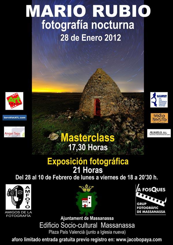 Masterclass gratuita y exposición en Valencia. 28 de enero 1