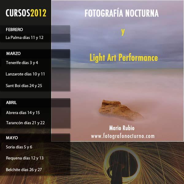 Cursos de fotografía nocturna en 2012 1