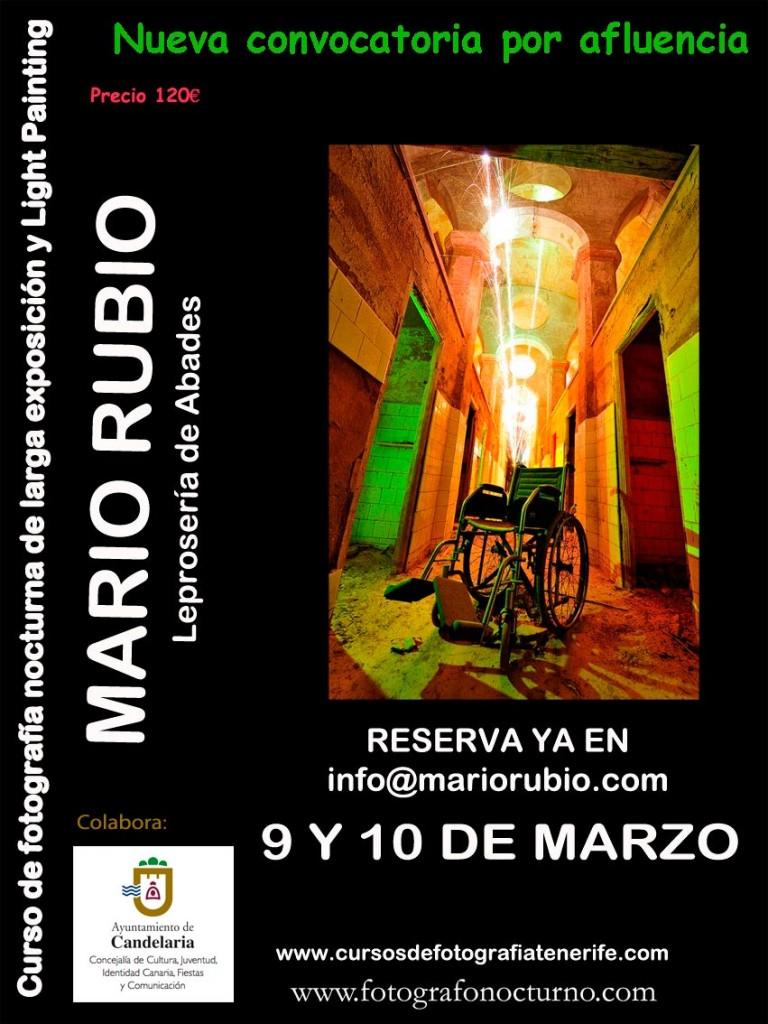 NUEVA CONVOCATORIA. Curso en Tenerife. 9-10 de marzo. 1