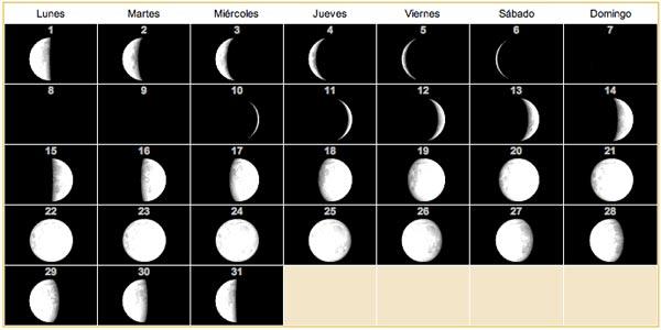 Calendario lunar para 2013 8