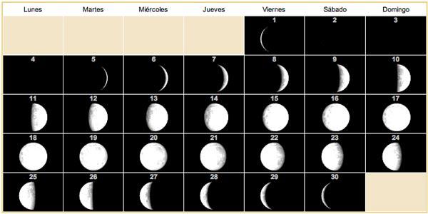 Calendario lunar para 2013 12