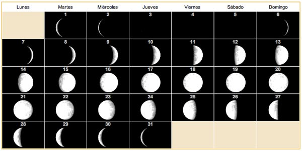Calendario lunar para 2013 11