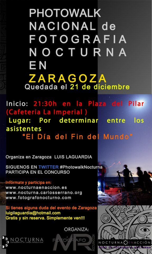 Photowalk nocturno en Madrid el 21 de diciembre 11