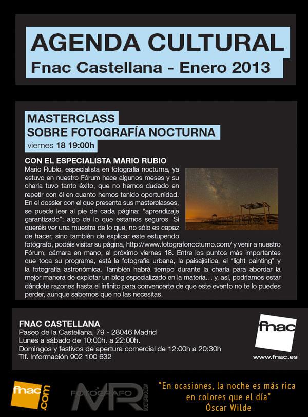 Masterclass gratuita en Fnac Castellana. Viernes 18/I/2013 1