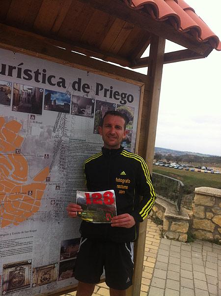 Pedro J. Gómez en la carrera de montaña de Priego (Cuenca) 1