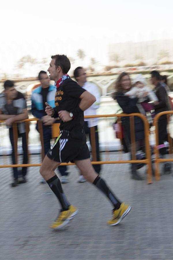 Así fue el Maratón de Valencia 2013 para nuestro líder 5