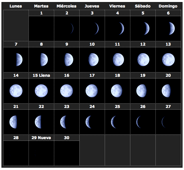 Calendario lunar 2014 4