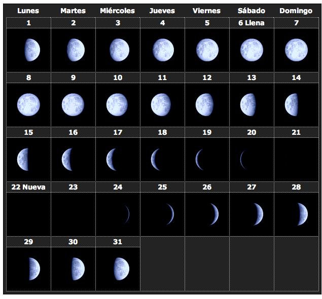 Calendario lunar 2014 12
