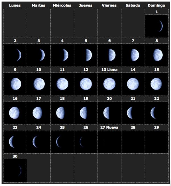 Calendario lunar 2014 6