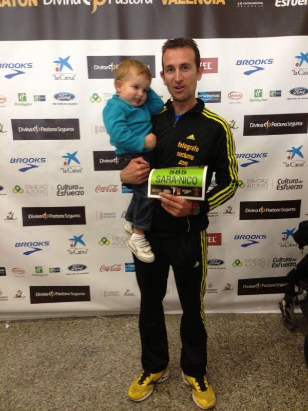 Así fue el Maratón de Valencia 2013 para nuestro líder 6
