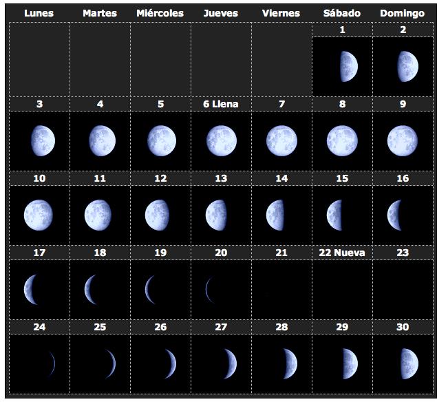 Calendario lunar 2014 11