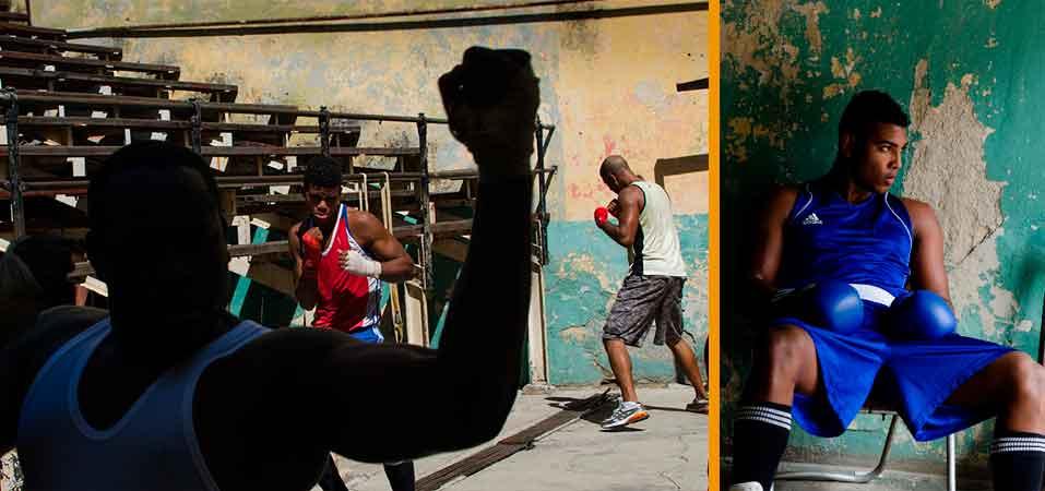 Boxeo en La Habana. Fotografía de Luis Alarcón.