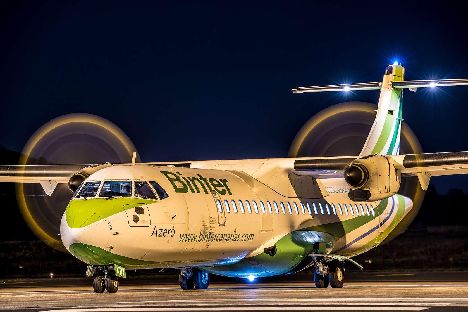 Fotografía nocturna en el aeropuerto de Tenerife Norte 1