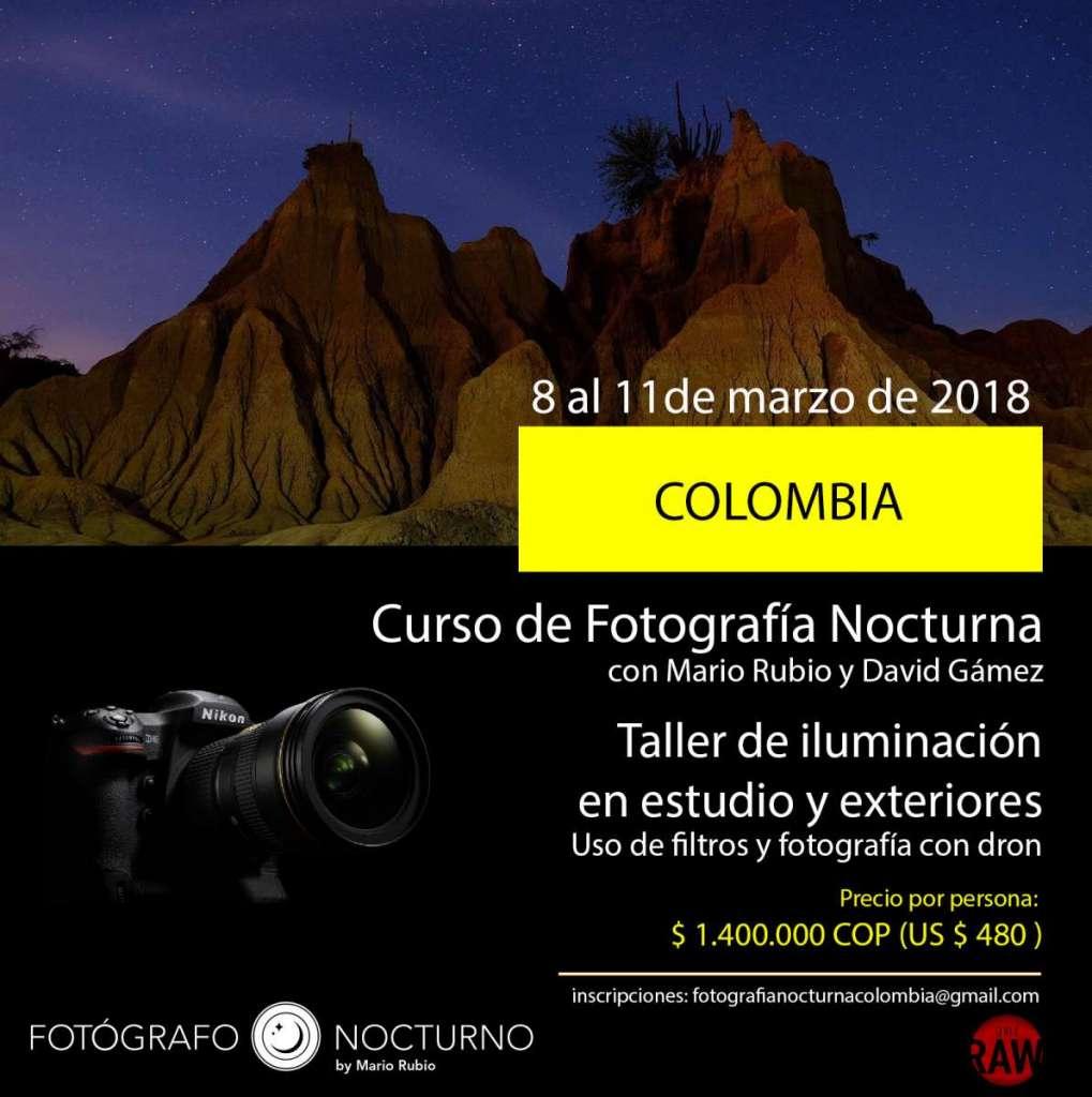 Fotógrafo Nocturno en Colombia. 8 al 11 de marzo de 2018 1