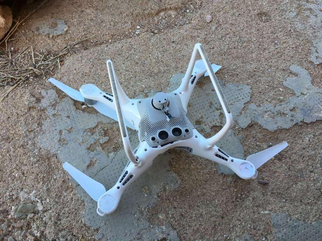 Así murió mi dron y así lo recuperé. Colisión Phantom 4 Pro. 3
