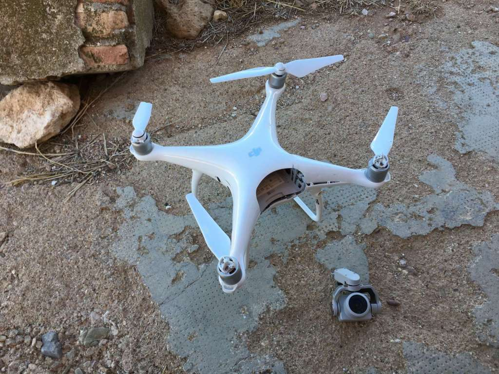 Así murió mi dron y así lo recuperé. Colisión Phantom 4 Pro. 9
